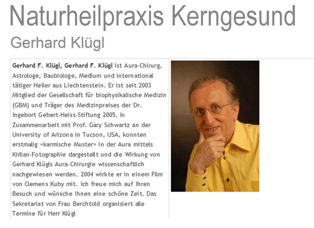 Aurachirurgie Gerhard Klügl