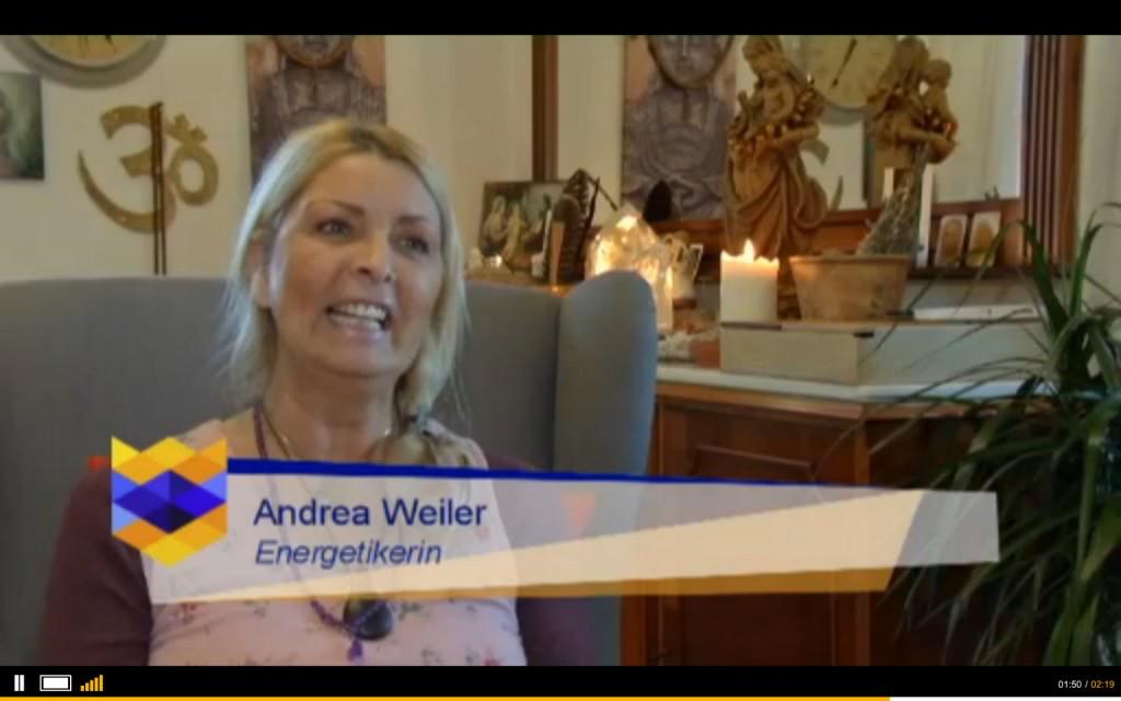 Fernsehauftritt von Andrea Weiler zur Erdakupunktur
